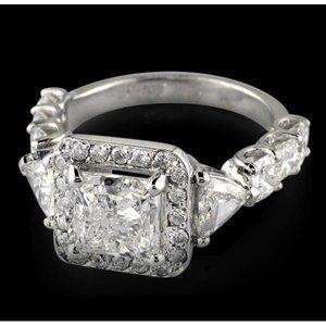 Jewelry - 3.66 ct Three stone princess diamond anniversary